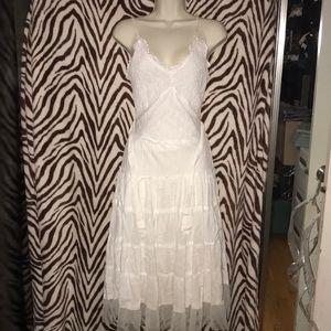 Vintage beautiful white boho style dress 👗 Medium
